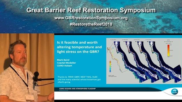 Dr Mark Baird: is it feasible and worth altering light stress on the Great Barrier Reef - video thumbnail