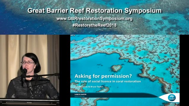 Dr Justine Lacey – asking for permission, the role of social licence in coral restoration - video thumbnail