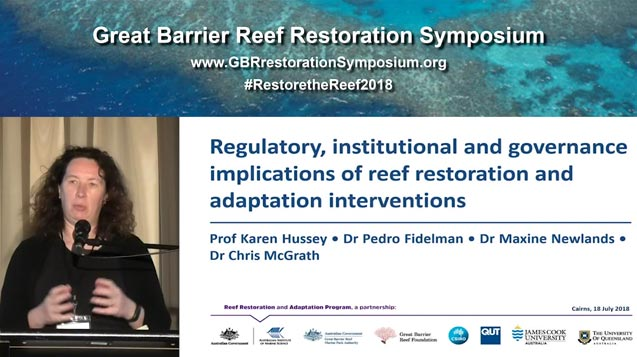 Dr Maxine Newlands and Dr Pedro Fidleman: scoping implications of reef restoration interventions - video thumbnail